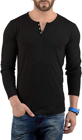 Image of Black - Henley T-shirt