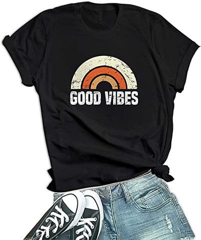 Image of Black - New Good Vibes Shirts Womens