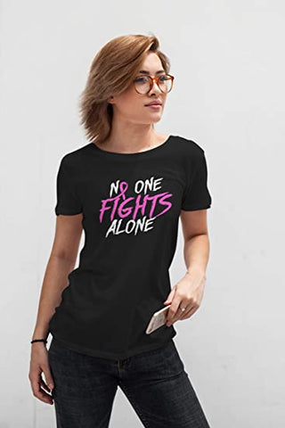 Black - Fight Alone Cancer Shirt