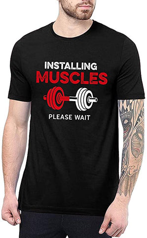 Black - Installing Muscles T Shirt