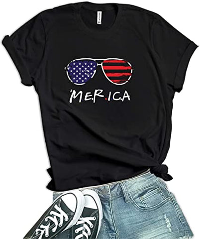 Image of Black - Merica Shirt