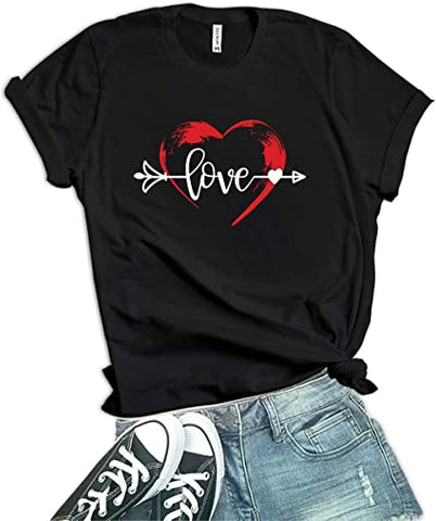 Image of Black - Arrow & Love Valentines Shirt