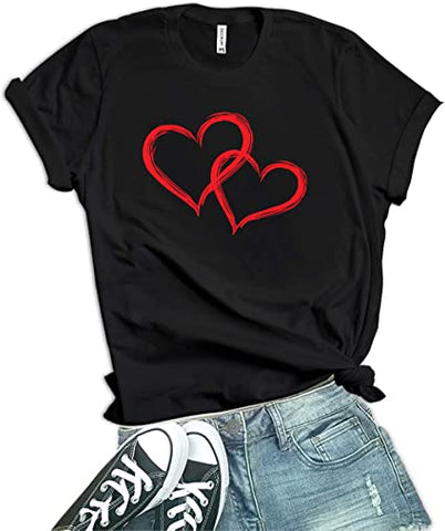 Red - Heart Valentines Shirt