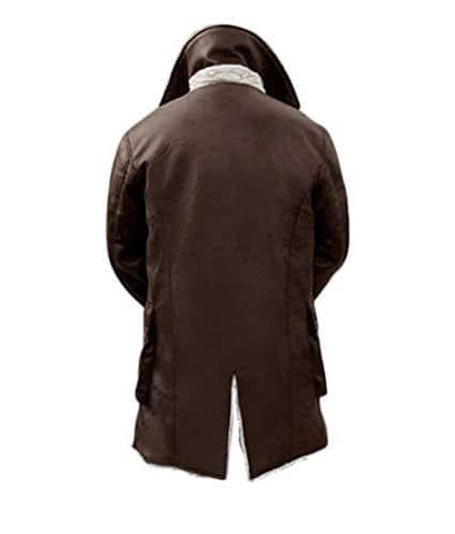 Mens Brown Shearling Bane Coat