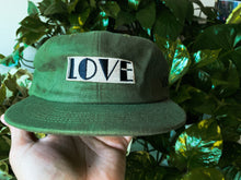 Load image into Gallery viewer, LOVE Hat in Linen with Leather back strap
