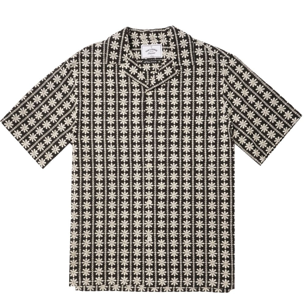 Portuguese Flannel Foclore 2 Shirt in Black