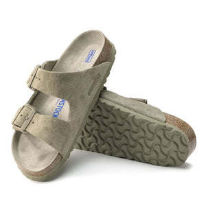 Birkenstock Arizona Sandal in Faded Khaki