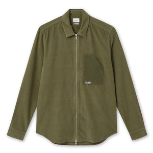 Forét Stray Zip Shirt in Olive