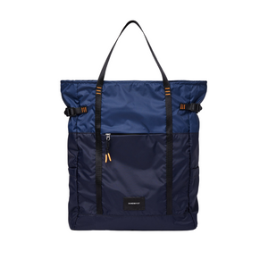 Sandqvist Roger Lightweight Backpack in Navy Blue/Evening Blue