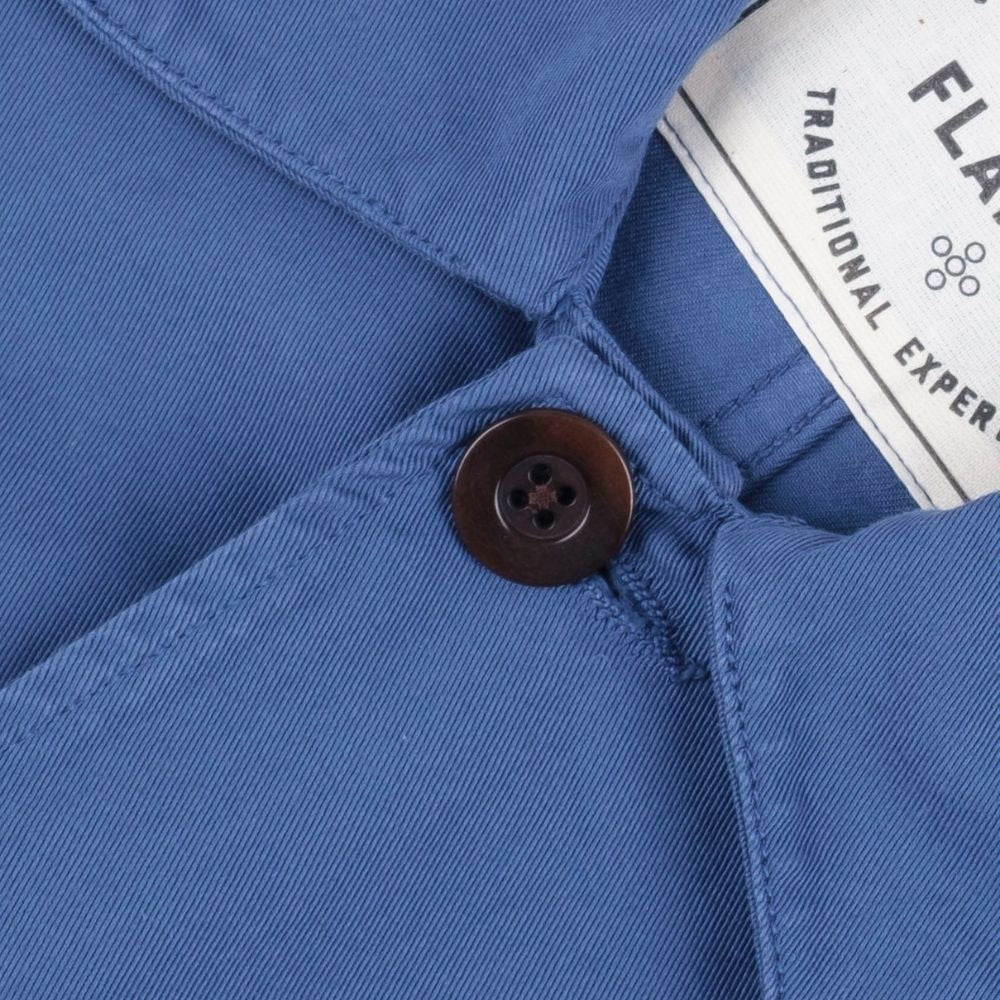 Portuguese Flannel Labura Work Jacket in Blue