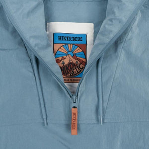 Hikerdelic Conway Smock Jacket in Aqua Blue