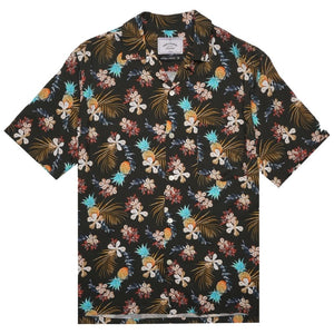 Portuguese Flannel Tropical Fruit Shirt in Black