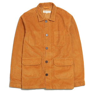 Far Afield Porter Jacket In Orange Corduroy