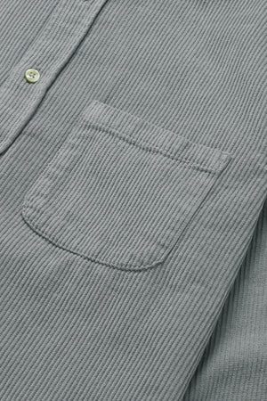 Portuguese Flannel Lobo Corduroy Shirt in Grey