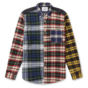 Portuguese Flannel Patch Shirt in Multi Check