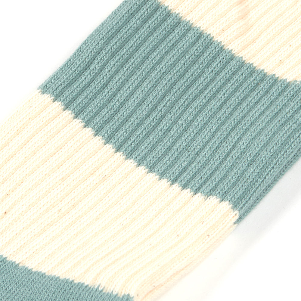 Anonymous Ism Thick Stripe Crew Sock in Mint