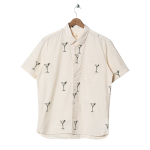 La Paz Alegre Cocktail Print Shirt in Off White