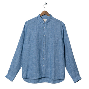 La Paz Branco Shirt in Blue Micro Squares