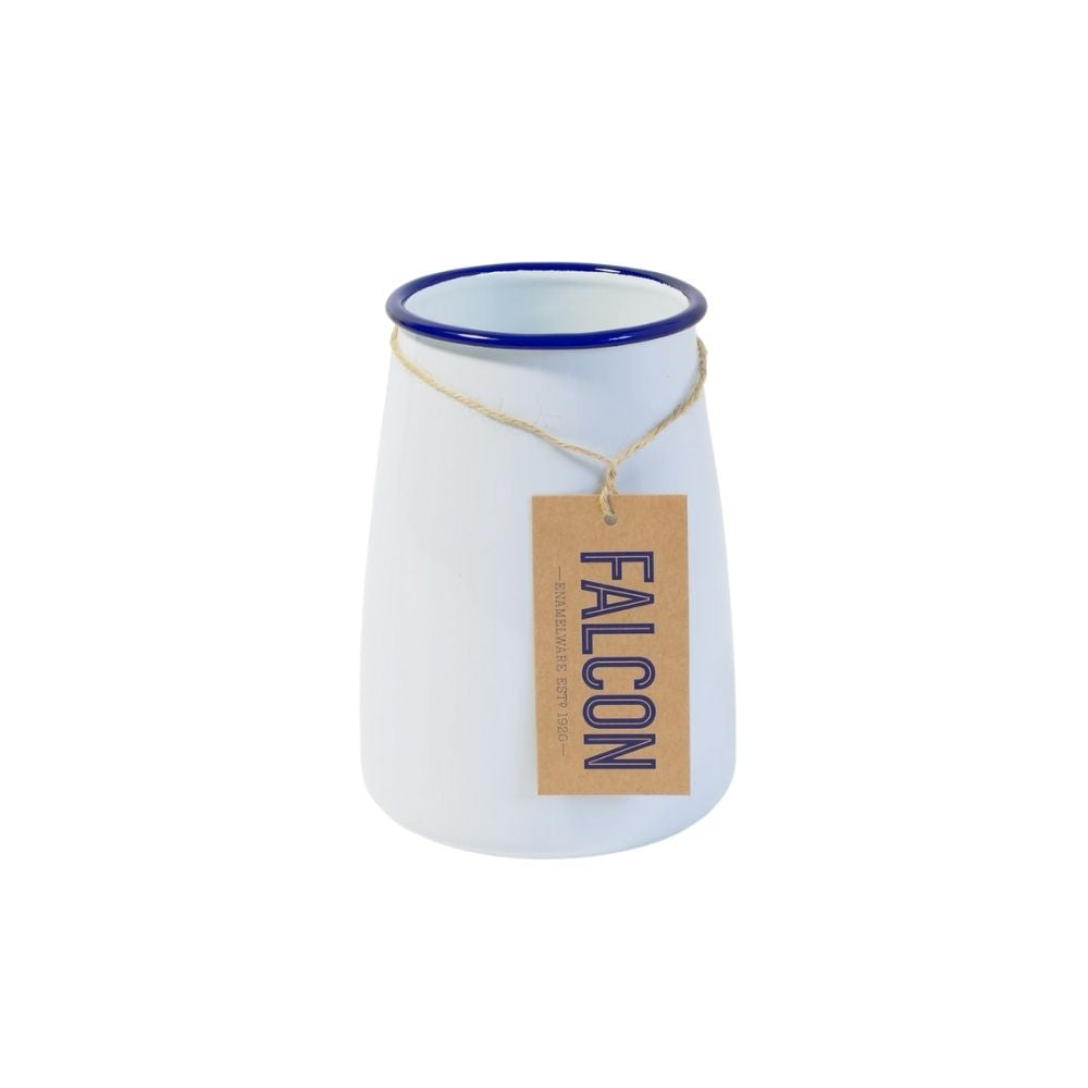 Falcon Enamelware Utensil Pot in White/Blue
