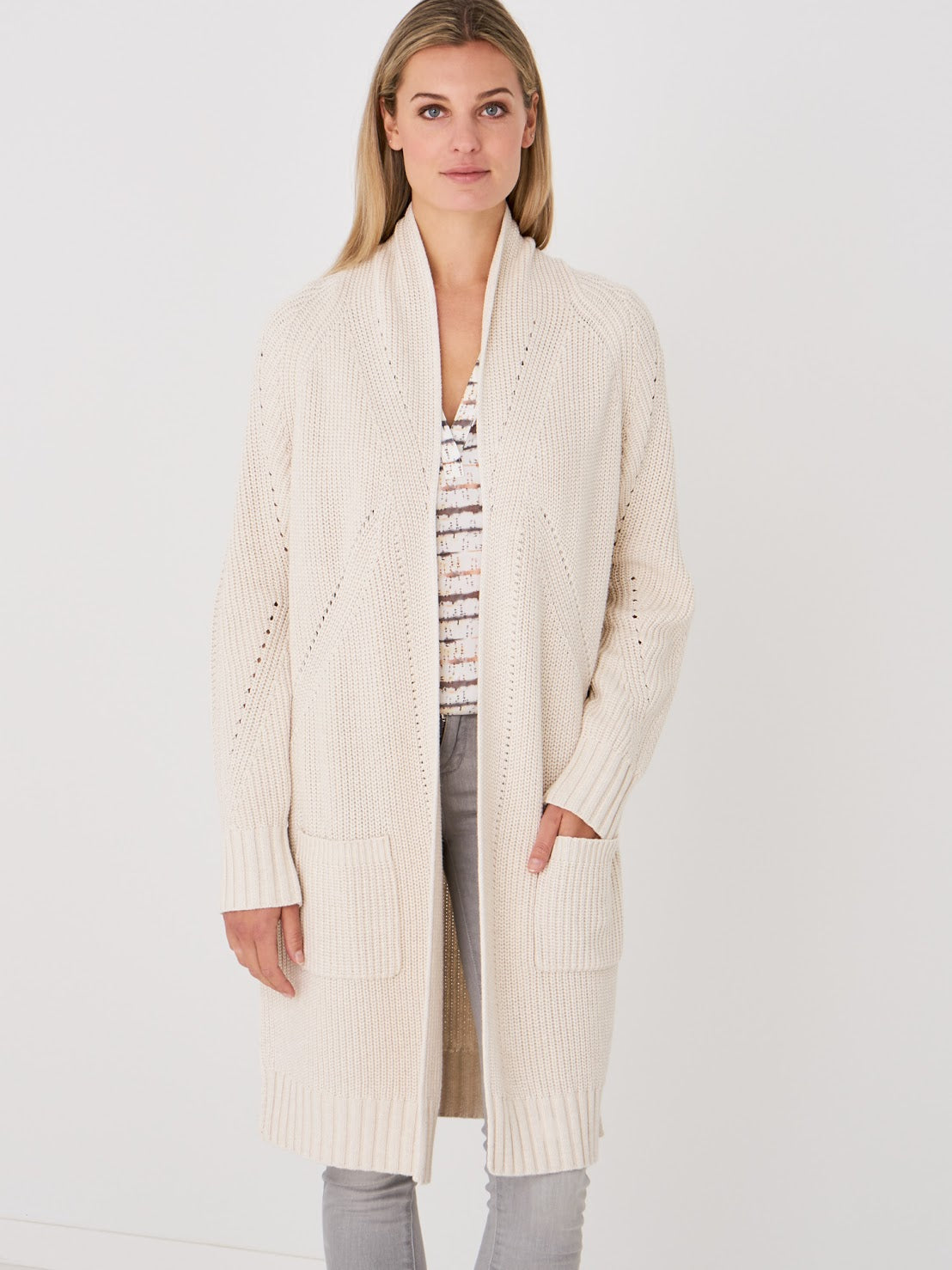 REPEAT COTTON BLEND CARDIGAN