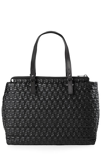 MARC CAIN HANDBAG WITH LEOPARD STITCHING