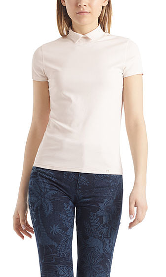 STAND UP COLLAR TEE IN COTTON
