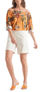 MARC CAIN FLORAL BLOUSE IN JERSEY