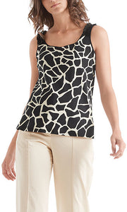 MARC CAIN TOP WITH GIRAFFE PATTERN