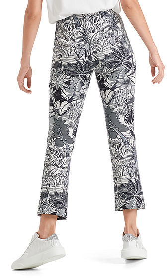 MARC CAIN PRINTED PANT IN SCUBA JERSEY