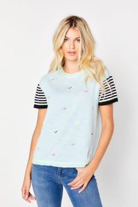 LISA TODD NO SHADE TEE IN SALTWATER