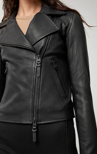 MACKAGE GEM LEATHER BIKER JACKET