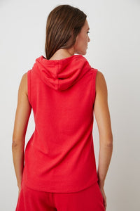 VELVET BY GRAHAM & SPENCER COZY LUX HOODY - RED