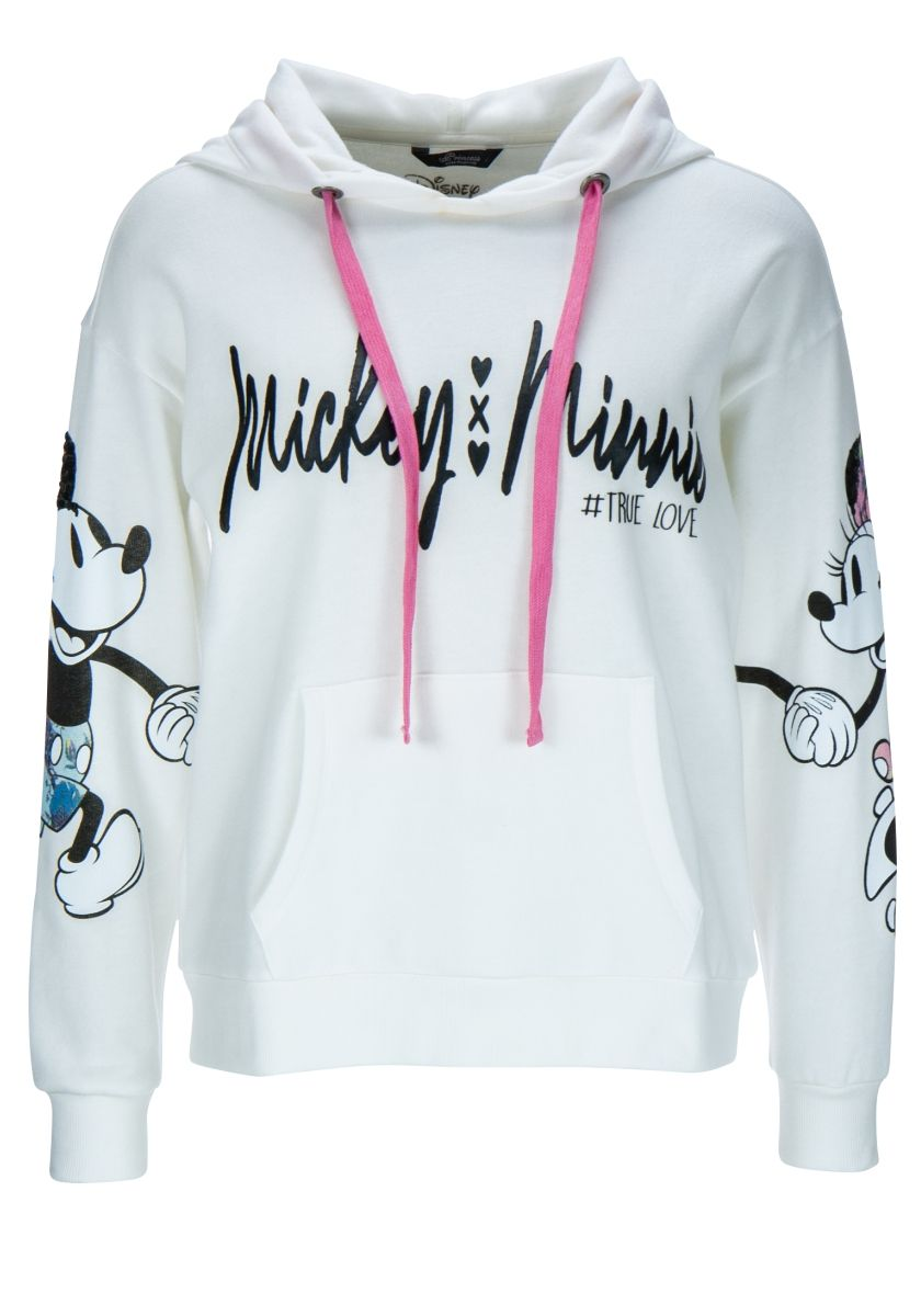 DISNEY MICKEY & MINNIE HOODIE SWEATSHIRT