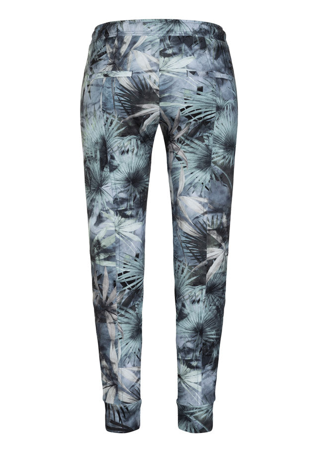 CAMBIO BLACK GREEN TROPICAL JUNGLE PANT
