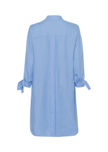RIANI VISTA BLUE 100 % LINEN DRESS