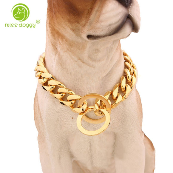 Chishock- Gold Chain Pet Safety Collar(50%OFF)