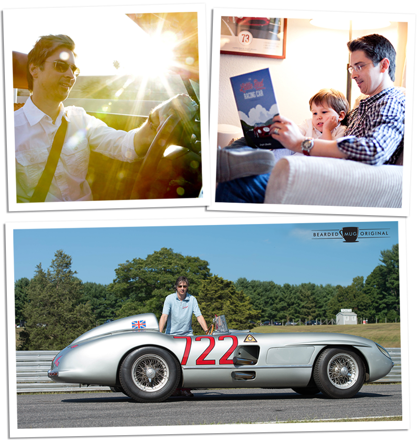 Dwight Knowlton, driving, reading, and with the 722 SLR