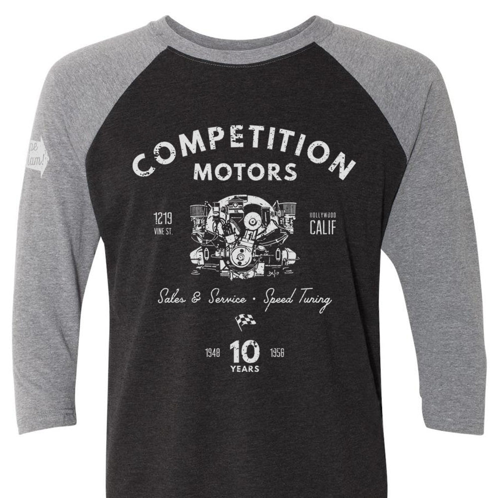 "Competition Motors ""Pushrod"" Premium Raglan"