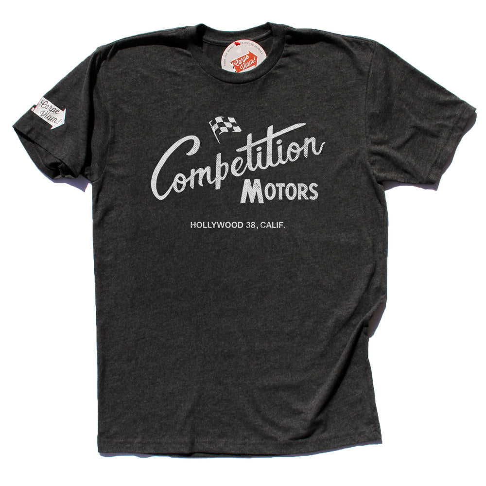 "Competition Motors ""Vintage Script"" Premium T-shirt"