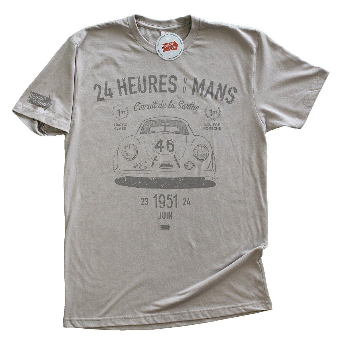 """The Most Important Porsche"" T-shirt – Light Gray"