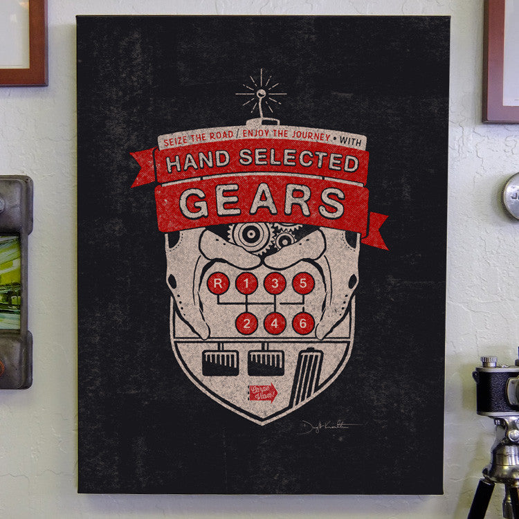 "18 x 24"" Hand Selected Gears Canvas Gallery Print"