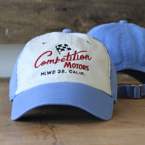 Competition Motors Script Hat – Vintage Blue