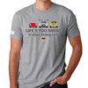 Life's Too Short to Drive Boring Cars T-shirt, German
