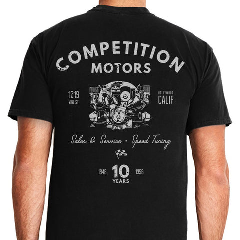 "Competition Motors ""Pushrod"" Premium Sueded T-shirt"