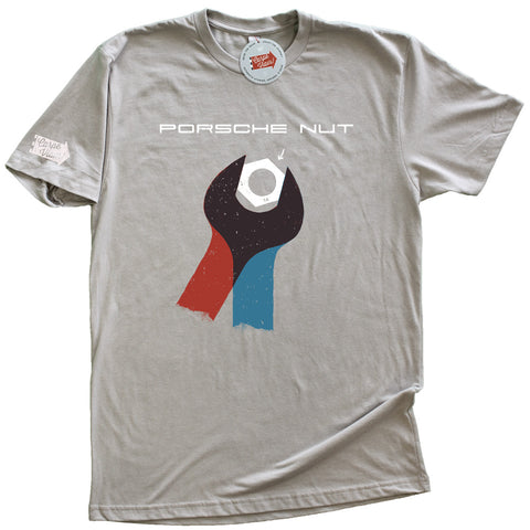 "Carpe Viam ""Porsche Nut"" Manual Gray T-shirt"