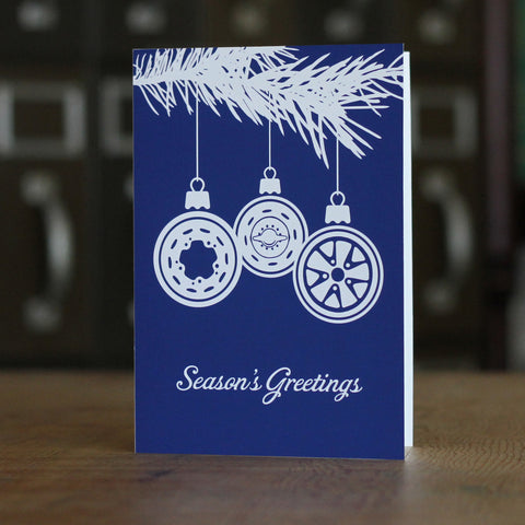 """Seasons Greetings"" Boxed Holiday Card Set (Set of 12)"