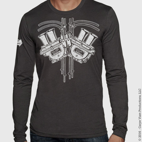 "The ""Petrolhead Respiratory System"" LONG SLEEVE T-shirt"