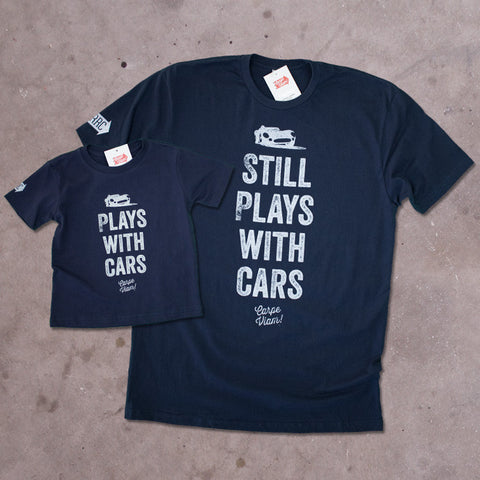 "Youth & Adult ""Plays with Cars"" Premium T-shirt Pack"