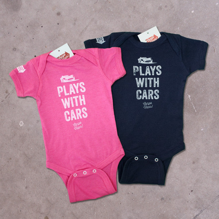 "The ""Plays with Cars"" Onesie"
