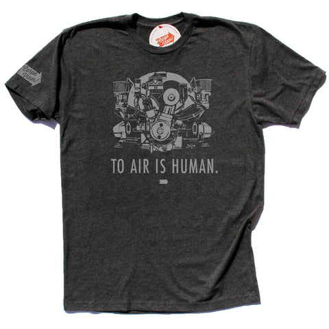 """To Air is Human"" (Pushrod) – Premium T-shirt"